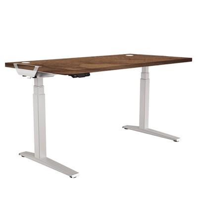 Стол с регулировкой высоты Fellowes Levado™. Орех-1600x800
